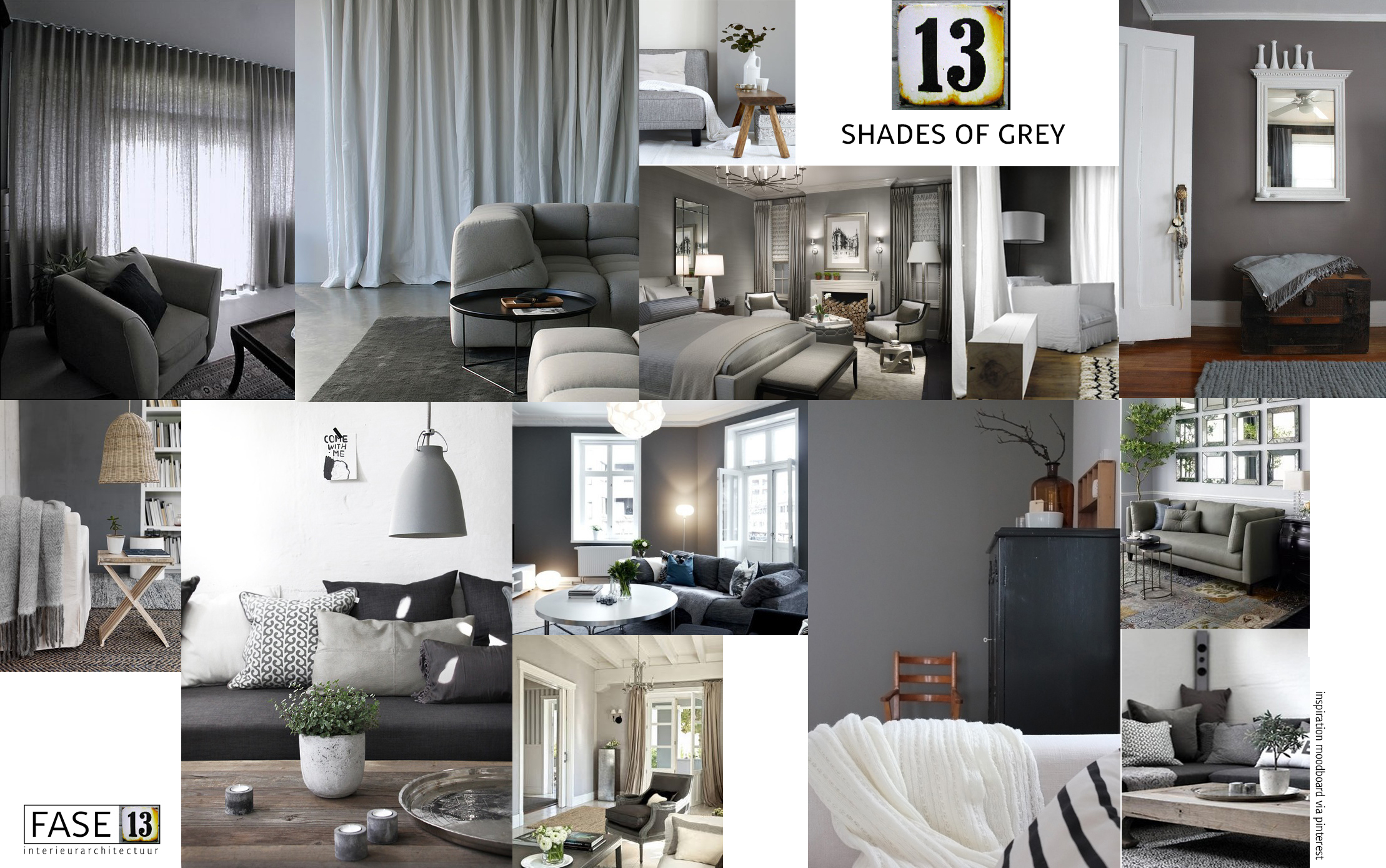 13 shades of grey - FASE13  Interieurarchitectuur #