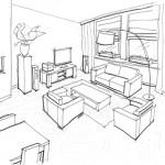 FASE13 Interieurontwerp 3d schetsen
