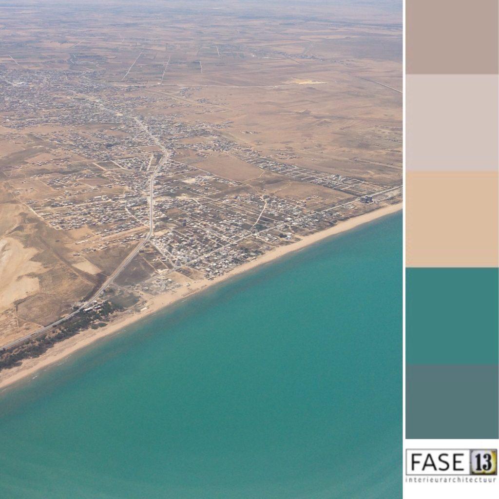 kleurinspiratie voorbeeld van een inspirerend kleurenpalet voor kleurtoepassing in je interieur