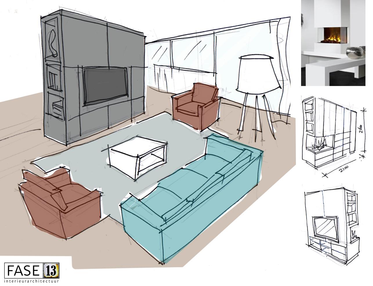 Sneak preview totaal interieurontwerp nieuwbouw appartement fase13 interieurarchitectuur for Interieurontwerp